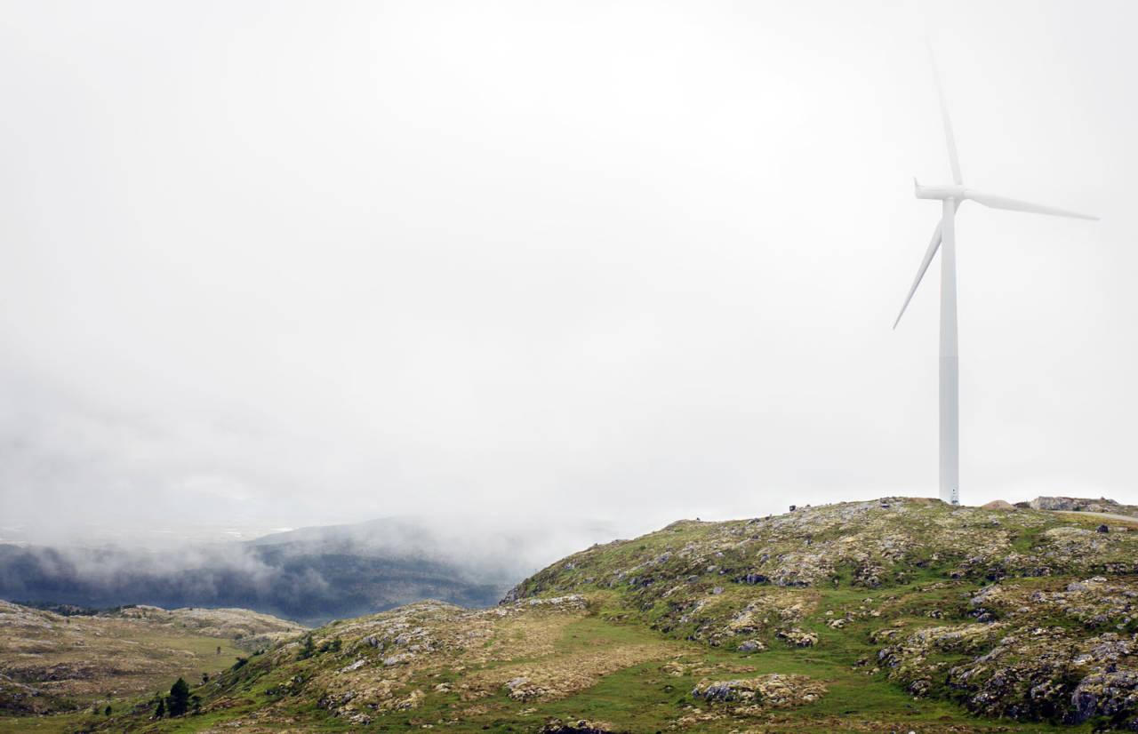 ÅPENT LANDSKAP: Naturen på Hitra er tildels ganske snau, men også veldig vakker. Foto: Unni Skoglund