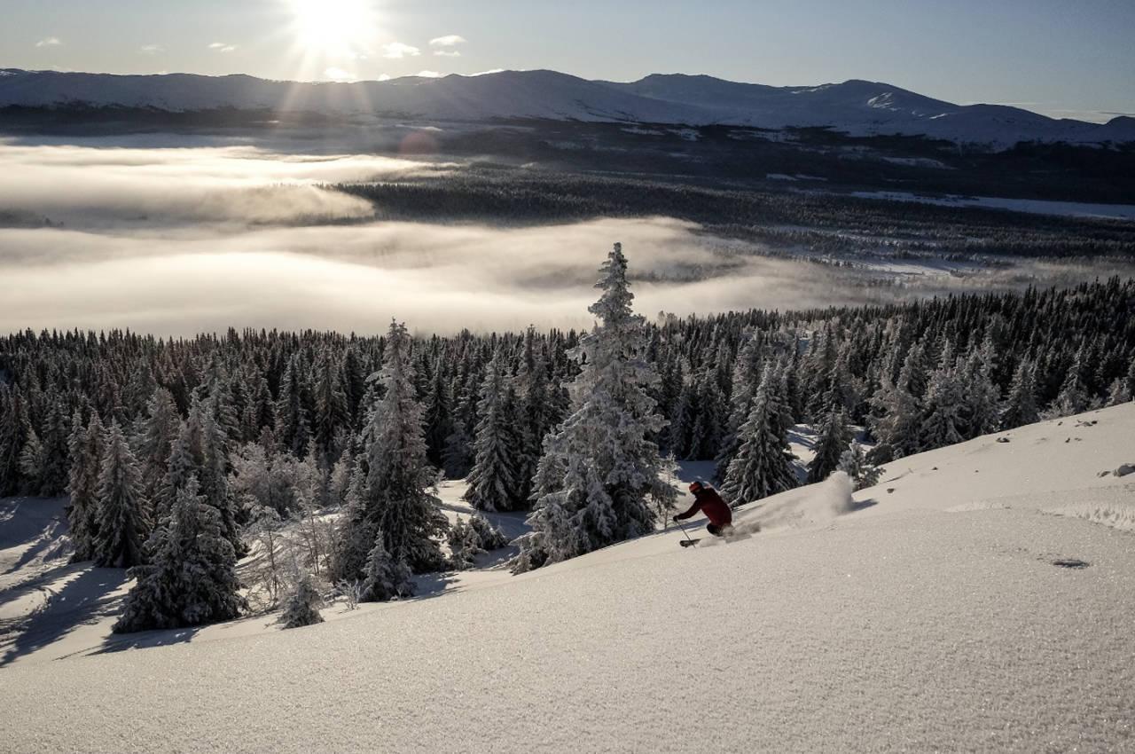 VINTER OG SNØ: Fefor Høifjellshotell ligger 15-20 minutter fra Vinstra. Foto: Viktoria Gjersøe