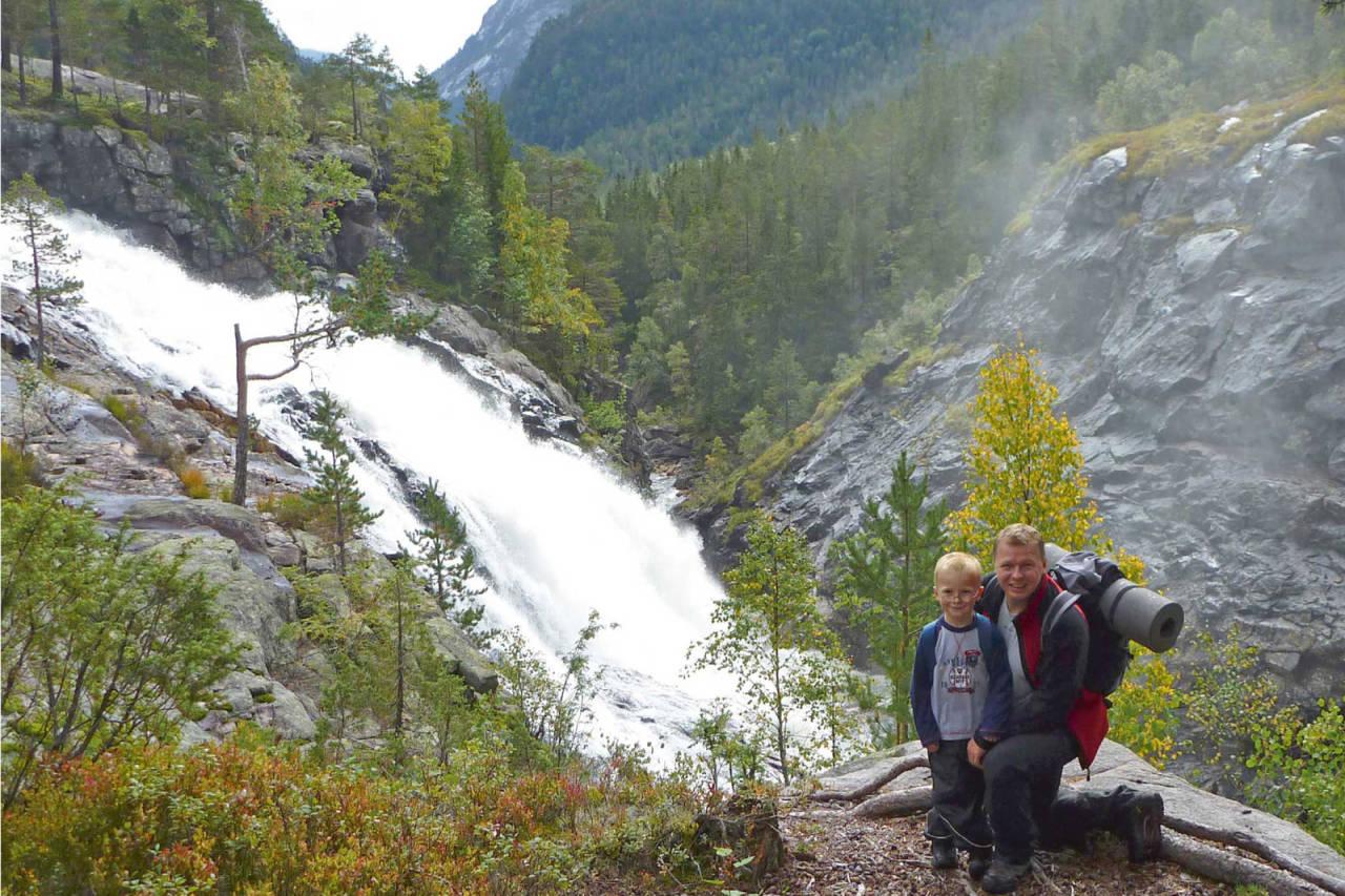 Det er en mektig følelse å komme nær Rjukanfossen. Foto: Ann-Kristin Robstad Jørgensen