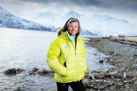 VINNENDE VESEN: Emelie Forsberg er blant verdens beste kvinnelige stiløpere. Vi møtte henne i Lyngen, hvor hun bor og trener i vinterhalvåret. Foto: Daniel Mikkelsen
