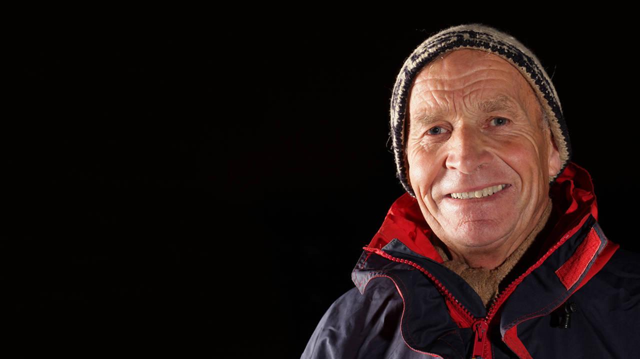 ÅRETS FJELLGEIT: Odd Eliassen mottar den ærefulle utmerkelsen Årets fjellgeit under Fjellfestivalen på Åndalsnes 11. juli. Foto: Matti Bernitz