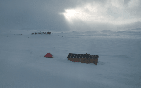 Framheim: Et lite stykke Sydpolen på Finse. Foto: Harald Kippenes