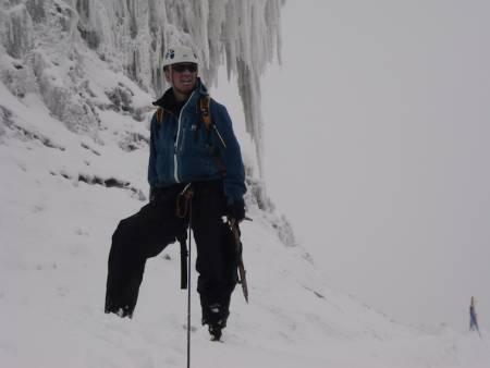 Anders Bahr på breen under Margherita Peak (5109 moh) i Rwenzorifjellene.