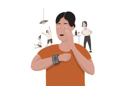 IMAGE: Det er flere spørsmål som mangler i måten pulsklokker blir satt opp. Illustrasjon: Anne Vollaug