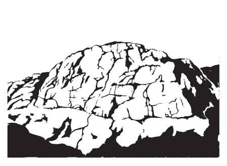 MELLOM LINJENE: Fjellet byr på mange linjevalg, der ikke alle er like umiddelbare. Illustrasjon: Kristian Tiller Torsvik