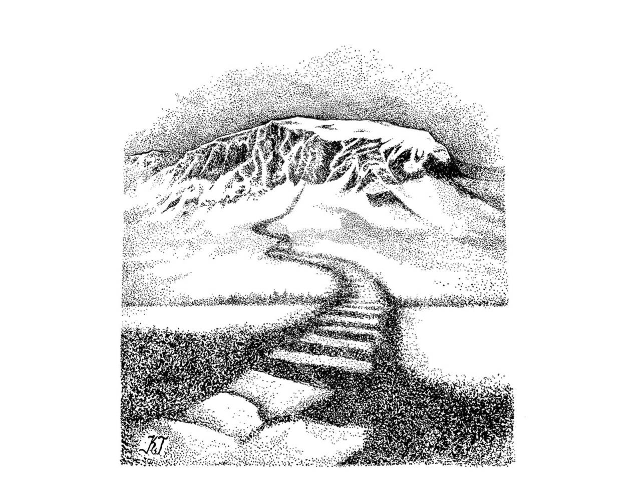 trapper i fjellet