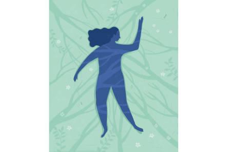 FRED OG RO: Det hender at jeg kan bli skremt i det stillheten entrer kroppen min. Jeg kan føle meg naken og sårbar, fordi jeg ikke lengre har noe eller noen som distraherer meg vekk fra tankene og følelsene. Illustrasjon: Anne Vollaug