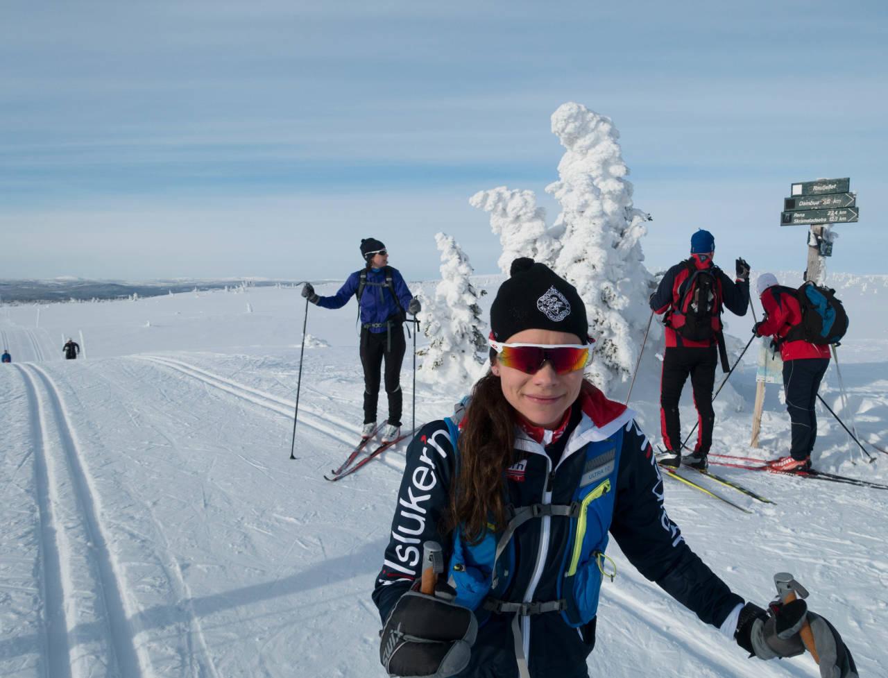 Gjennomkjøring i flott vintervær. Foto: Lillian Langseth