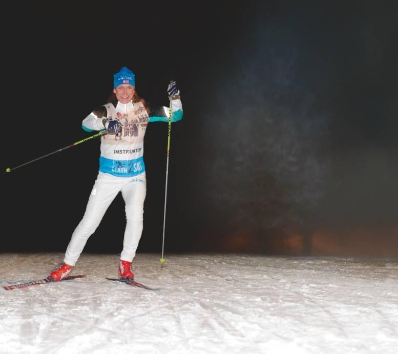 KUNSTEN Å SKØYTE: Langrennsinstruktør Siri Halle sammenligner skøyting på ski med å danse.