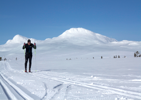 KVALITETSTID: Tuddal i Telemark er en langrennsperle, som leverer både skikkelig vinter og nydelige skiløyper. Foto: Gunhild Aaslie Soldal