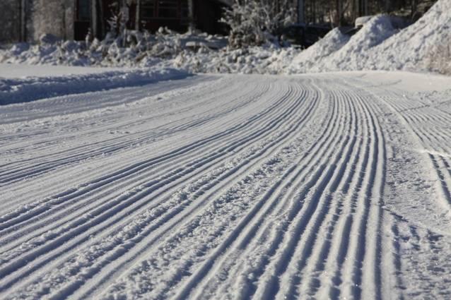 Geilo hadde nyprepparerte skispor allerede 20. oktober 2010. Foto: Kristian Holm
