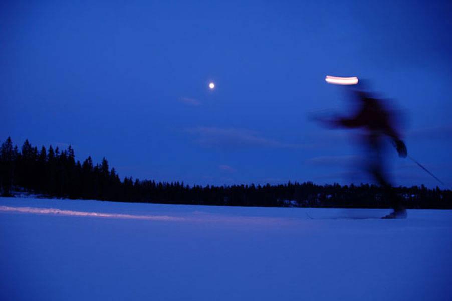 LANGTUR PÅ LANGRENN: I Nordmarka. Foto: Camilia Stryken