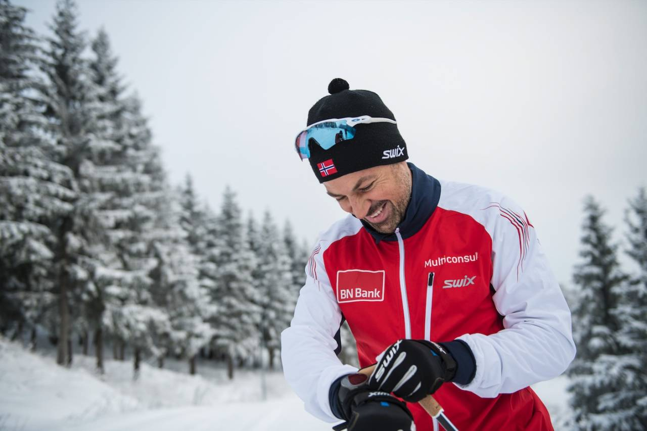 FØLELSEN AV FRAMDRIFT: Nils-Ingar Aadne trives godt i langrennsbobla. Foto: Vegard Breie