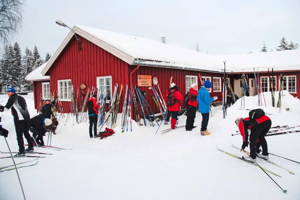 Skiløpere i Marka.