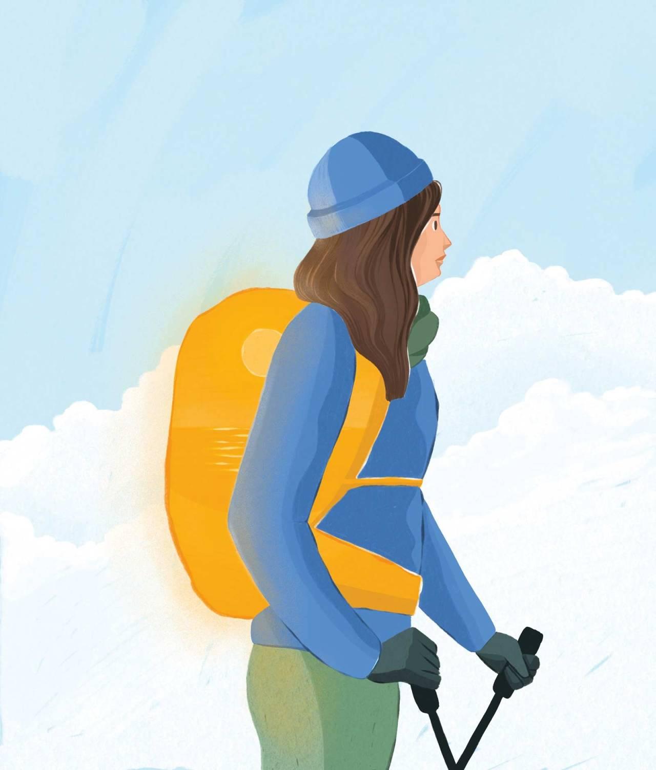 PARADIS: Stillheten jeg fikk ta del i på skituren, hadde aldri før vært så intens, og heller aldri så etterlengtet, skriver Maria Grøntjernet. Illustrasjon: Anne Vålaug