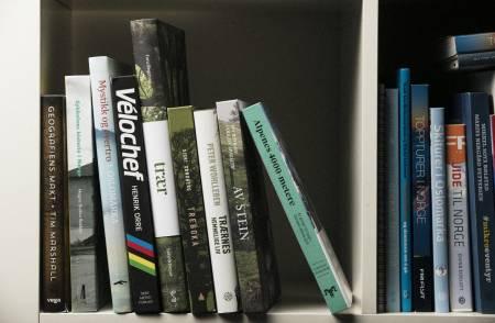 PÅ ØVERSTE HYLLE: Vi har plukket fram noen av årets utgivelser vi synes fortjener en plass i bokhylla. Foto: Kristoffer Kippernes
