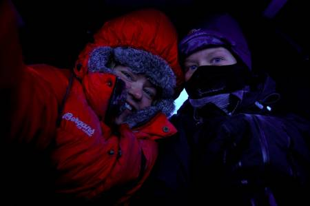 To jenter med mål om to uker over Finnmarksvidda Ida Ask og Liv Engholm, fra Karasjok til Klubbukt i Kvalsund.