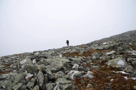 STEIN: Etter en dag i fjellet får du gått på kryss og tvers i fjellet – om du ikke setter deg ned og venter på flaksen.