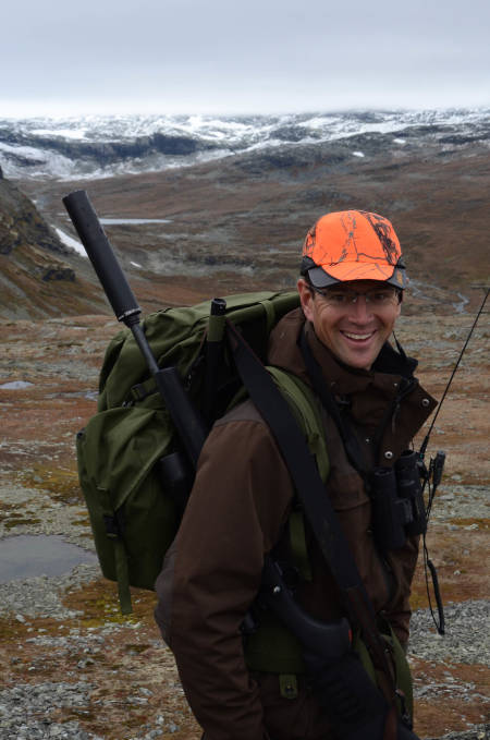 JAKTGLAD: Robert Lappegard er på jakt så ofte han kan.