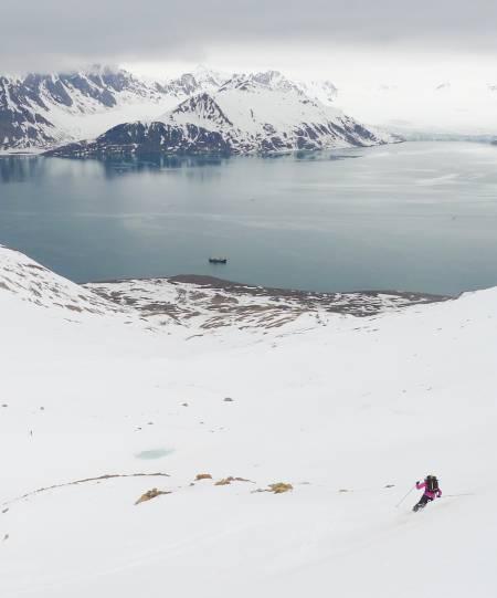 CRUISING: På vei ned til fjorden og hjem til båten.