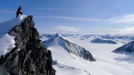 UTSIKT: Har noen vært ski her tidligere?