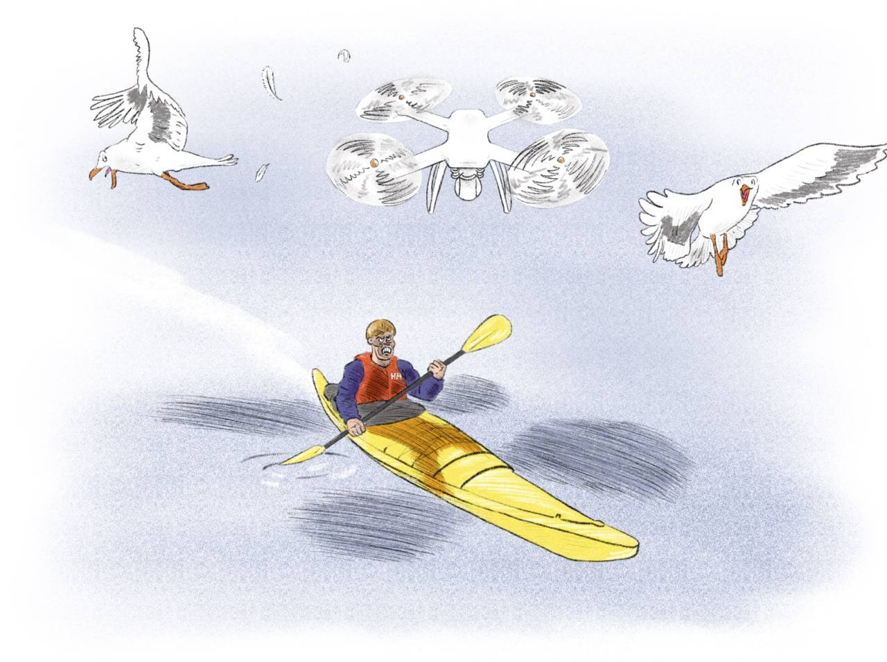 URO: Det er en «new kid in town», og en forbanna irriterende en også. Illustrasjon: Didrik Magnus-Andresen