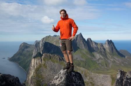 EVENTYR: I et helt år har Andreas Orset vært på tur som Alfas Eventyrer. Senja ble et av høydepunktene. Alle foto: Andreas Orset