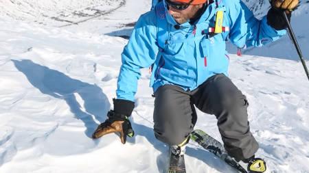 DET ER LOV Å SKIFTE MENING: Ikke bestem deg for turen før du har vurdert sikkerheten i fjellet du skal gå. Velg tur etter forholdene, er ett av veldig mange tips du får i Toppturskolen denne gang. Bilde: Benjamin Hjort