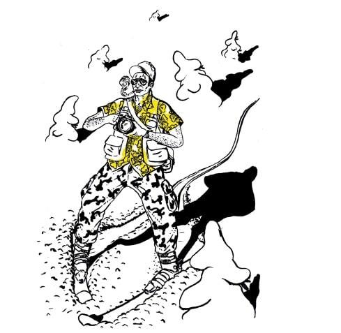 ILLUSTRERT: Boka er fylt med tøffe illustrasjoner, som denne av Didrik Magnus-Andresen