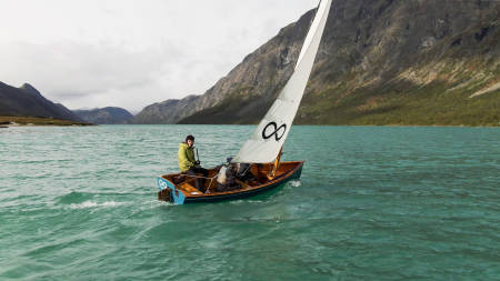 Mats Grimsæth var en av eventyrerne som deltok på årets Fjellfilm. Foto: Christian Nerdrum
