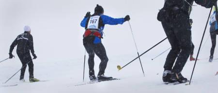 KRAFT I FRASPARK: Watt på watt tråkkes ned i snøen.