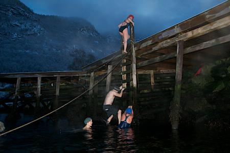 Isbading gir adrenalinkick! Foto: Sigrid Henjum