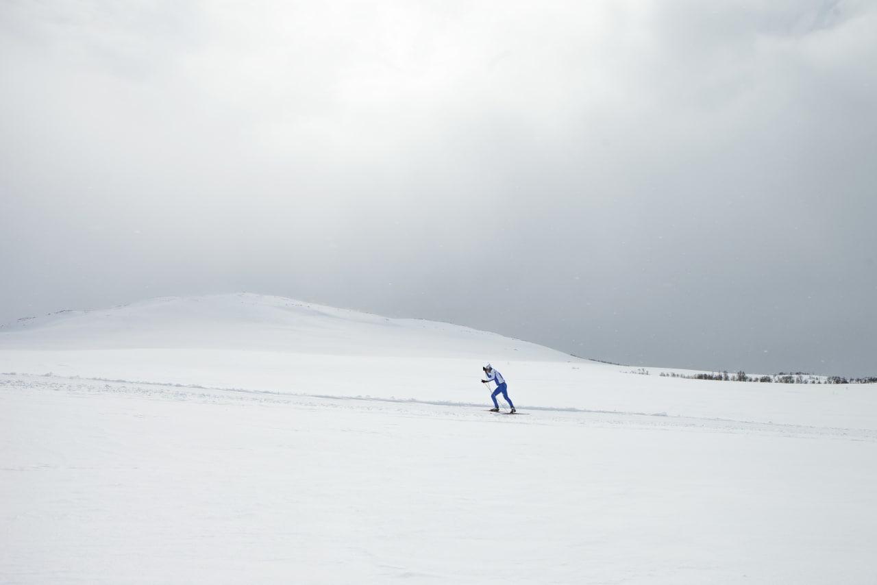 MIDT I DET: Hvit oppkjørt ødemark. Foto: Tor Simen Ulstein