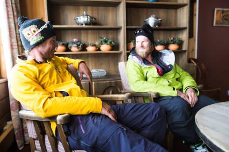 Dave Rosenbarger og Johan Wildhagen på Spiterstulen. Foto: Christian Nerdrum