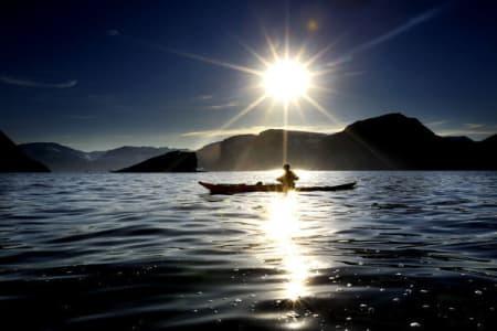 Padletur på Grønland