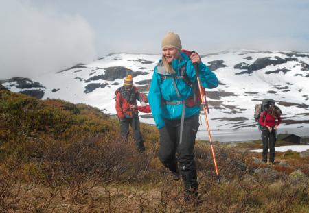 Stavanger Turistforening og Handikappedes barn foreldreforening i Rogaland arrangerte den fire dager lange turen på Hardangervidda. Alle foto: Guro Waksvik