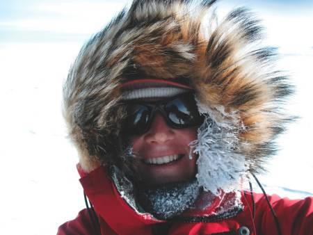 VINDRETNING: Det er relativt mye vind i Antarktis. Hvor den varme pusten havner er tydelig.