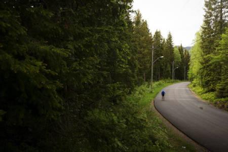 LANGRENN PÅ HJUL: Artikkelforfatteren trodde lenge at rulleski en skigrenen han skulle holde seg unna. Nå har han mål om ukentlige turer i Maridalen. Foto: Kristoffer H. Kippernes