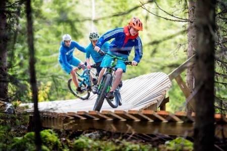 SYKKELMORO: Full fokus under fjorårets Terrengsykkel Ungdomscamp i Trysil. Foto: Hans Kristian Nysæter
