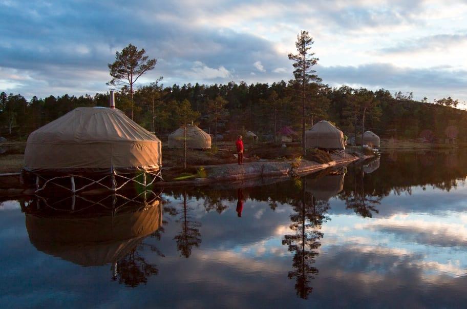 Glamping: Luksuscamping slår an. Canvas Hotell er kåret til årets reiselivsprodukt i Telemark. Foto: Canvas Hotell