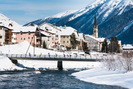 LA DIAGONELA: Et langløp i langrenn klassisk teknikk i dalen Engadin i Sveits, som ble arrangert for første gang i 2014.