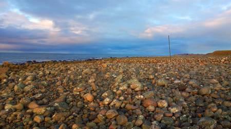 FINSLIPT: Landskapet på Jæren har sitt eige særpreg. Lenge hadde eg hatt denne draumen om tur langs jærstrendene, og sjansen baud seg eit par dagar mellom jul og nyttår. Foto: Tor Inge Landa