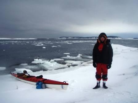 Sebastian Plur Nilssen og Ludvig Fjeld skal padle rundt Svalbard.