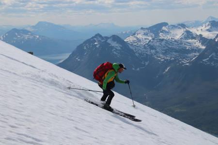Espen Nordahl har over 50 turer på Jiekkevarri. Foto: Svein Mortensen