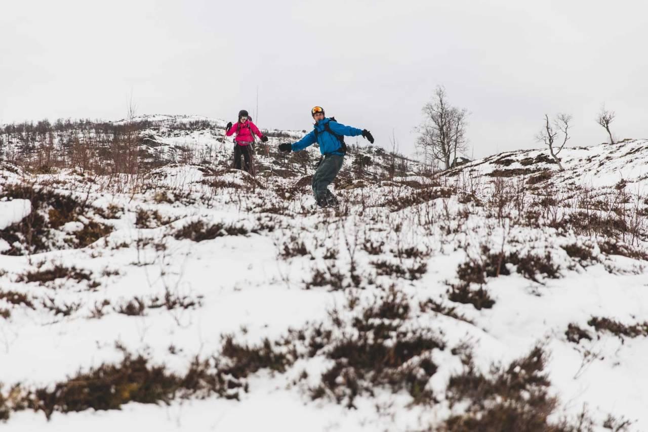 SKI I GLOPPEN: Mykje tyder på at slike skihøve blir vanlegare i framtida. Foto: Line Hårklau
