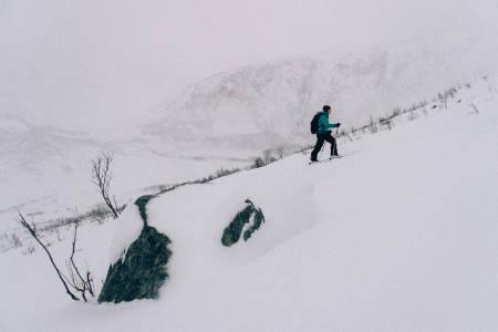TVERRFJELLET: I Tromsø er toppturer hverdagskost. Noe man setter pris på, noe man finner tid til. Foto: Sjur Melsås