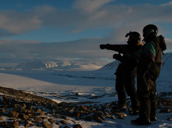 Guide på Svalbard. Foto: Trygve Sunde Kolderup