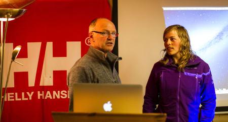 Stein P. Aasheim tok turen, og festivalsjef Marit Vidnes ønsker velkommen. Foto: Roger Bareksten