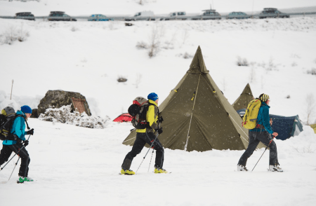 High Camp er i gang. Foto: Peder Eikeland