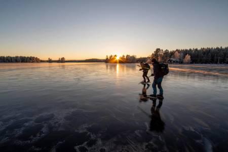 skøytetur fra vann til vann fjorda